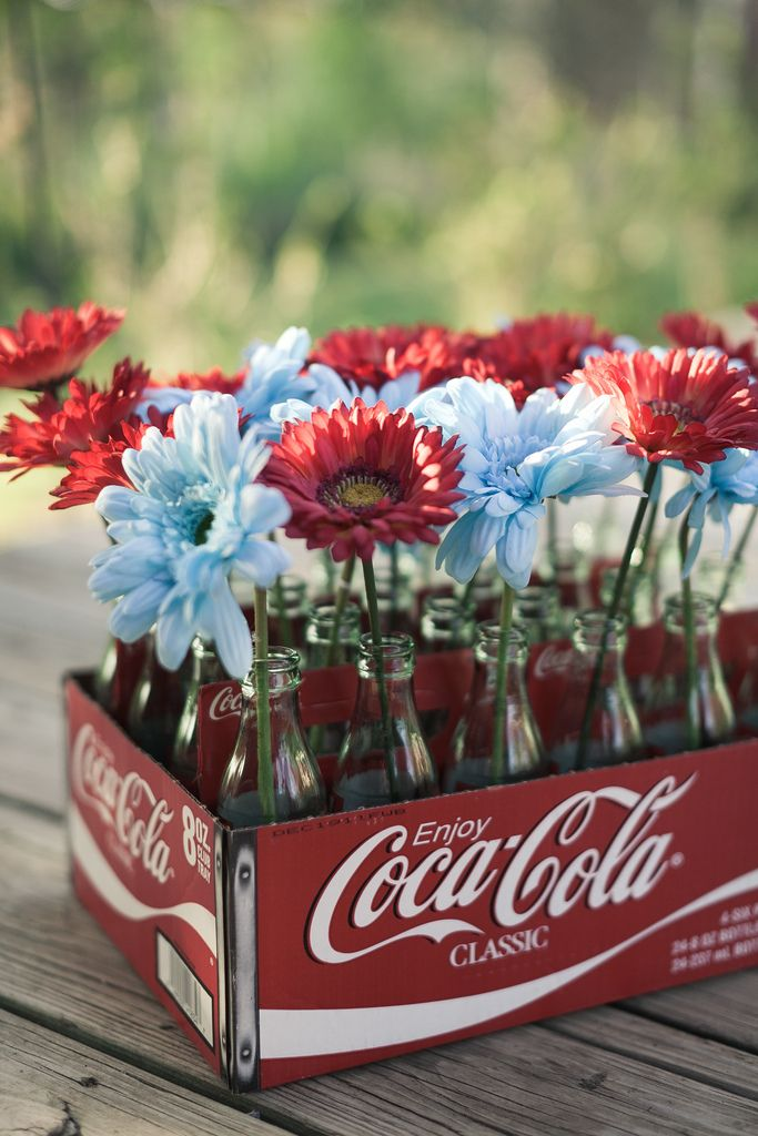 Soda bottles as unique vases